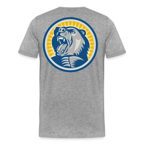 Björnbrottarlyftet II herr (grå) - Premium-T-shirt herr