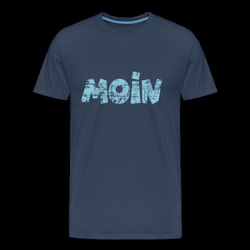 Moin (Vintage Hellblau) S-5XL T-Shirt - Männer Premium T-Shirt