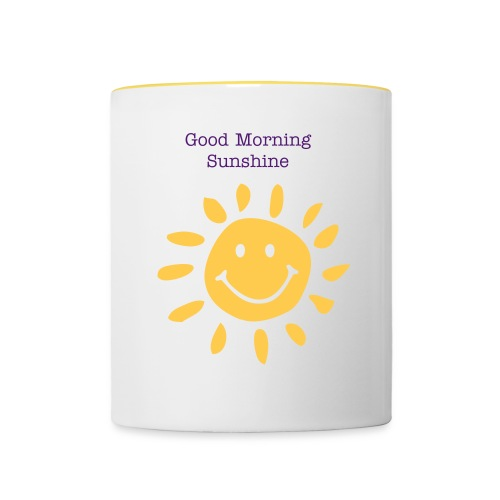 Good Morning Sunshine Mug - Contrasting Mug