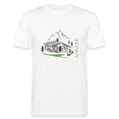 Herren-Shirt ALMVOLK Almhütte - Männer Bio-T-Shirt
