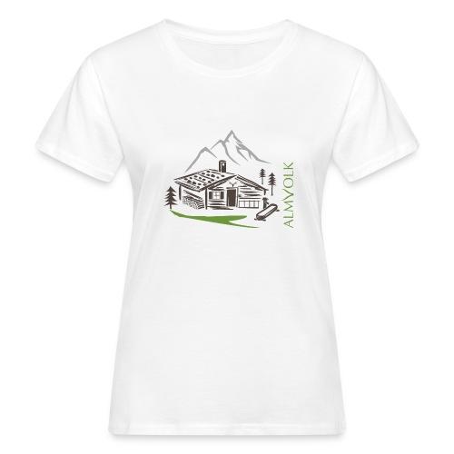 Damen-Shirt ALMVOLK Almhütte - Frauen Bio-T-Shirt
