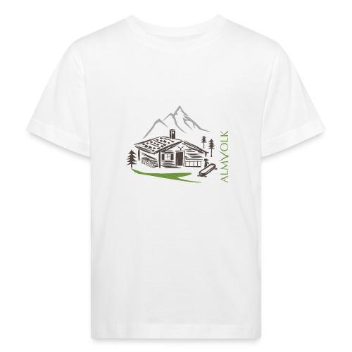 Kinder-Shirt ALMVOLK Almhütte - Kinder Bio-T-Shirt