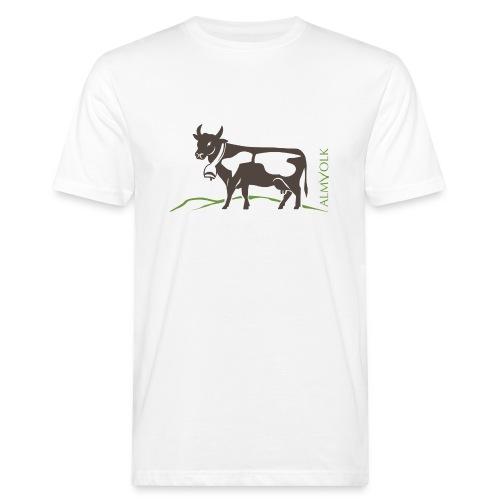 Herren-Shirt ALMVOLK Almkuh - Männer Bio-T-Shirt