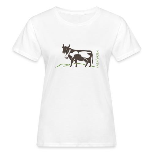 Damen-Shirt ALMVOLK Almkuh - Frauen Bio-T-Shirt