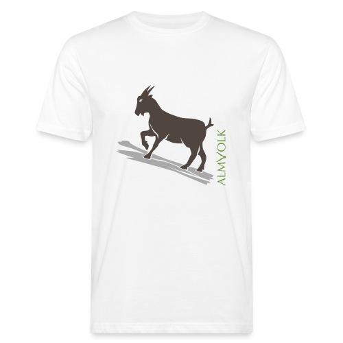 Männer-Shirt ALMVOLK Gebirgsziege - Männer Bio-T-Shirt