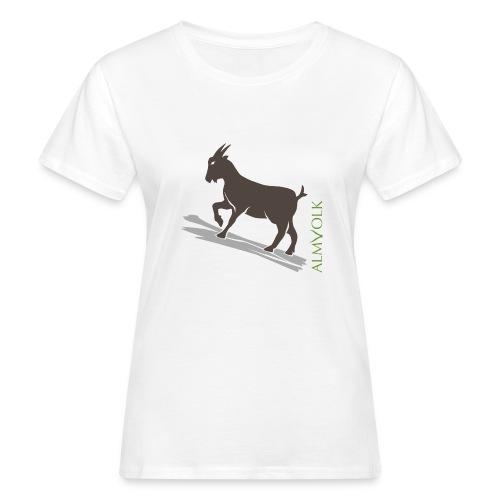 Damen-Shirt ALMVOLK Gebirgsziege - Frauen Bio-T-Shirt
