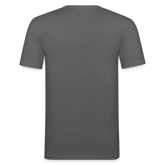 Männer T-Shirt graphit Flockdruck orange
