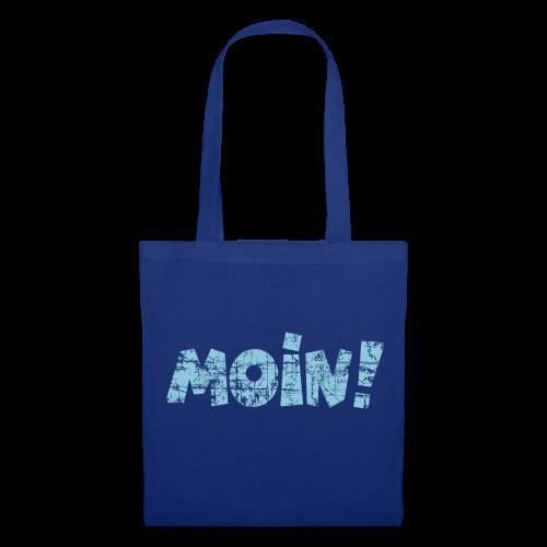 Moin! (Vintage Hellblau) Stofftasche - Stoffbeutel