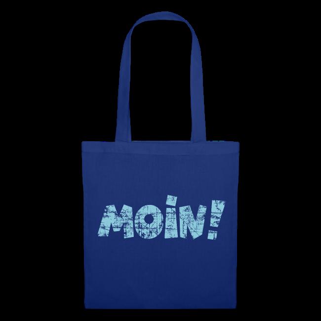 Moin! (Vintage Hellblau) Stofftasche