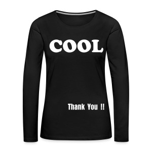Cool Shirt Long Sleeve white - Frauen Premium Langarmshirt