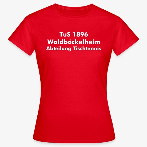 TT-Shirt Damen rot - Frauen T-Shirt