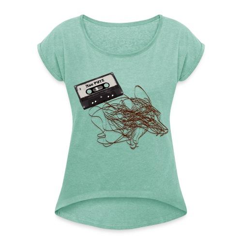 Frauen T-Shirt Grün - Unleash the Beast - Frauen T-Shirt mit gerollten Ärmeln