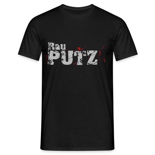 Herren T-Shirt Schwarz - RauPutz - Männer T-Shirt
