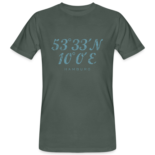 Hamburg Koordinaten (Vintage Hellblau) Bio T-Shirt - Männer Bio-T-Shirt