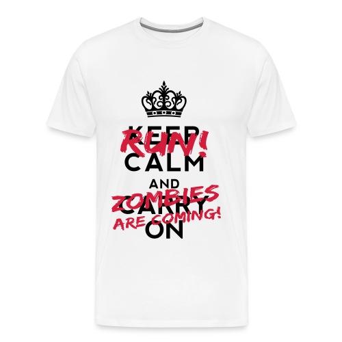 Keep Calm and RUN ! - Männer Premium T-Shirt
