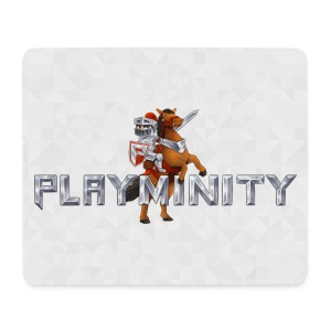 PlayMinity Mousepad (White) - Mouse Pad (horizontal)