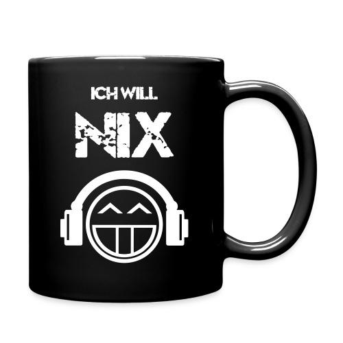 Die offizielle Friedrich Nix Tasse in schwarz - Ich will Nix! - Tasse einfarbig