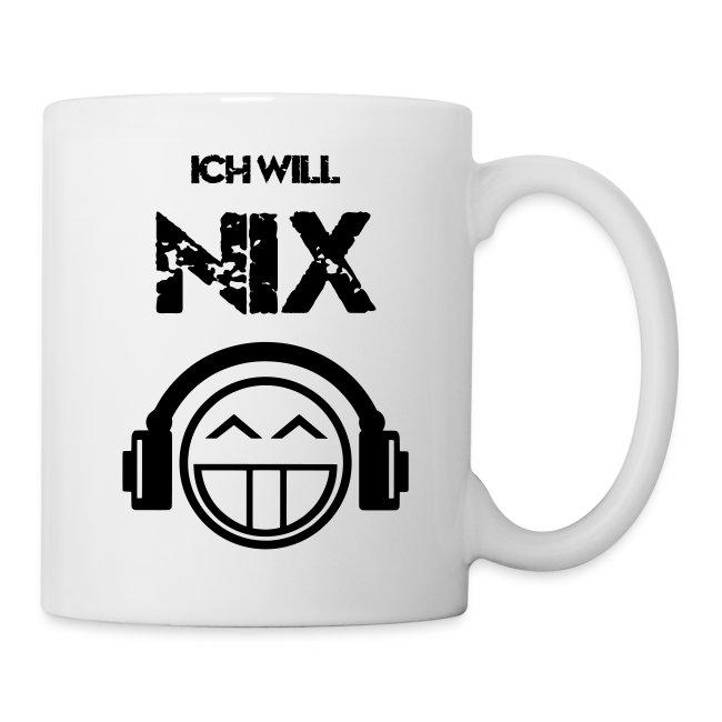 Die offizielle Friedrich Nix Tasse in weiß - Ich will Nix!