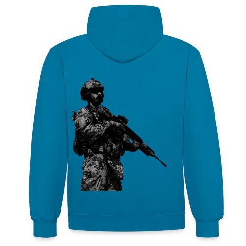 Pullover ISAF Soldat II - Kontrast-Hoodie