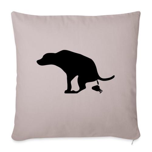 Throw pillow Hund scheißt auf Nazis - Sofa pillow cover 44 x 44 cm