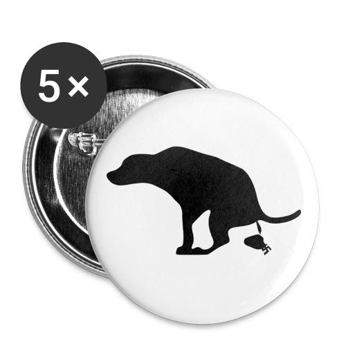 Buttons Hund scheißt auf Nazis - Buttons medium 1.26/32 mm (5-pack)