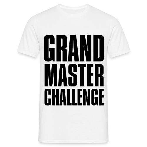 GMC Large English Logo Black On White (Basic) - Men's T-Shirt