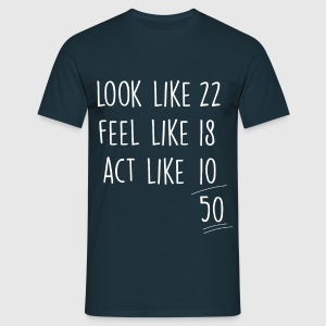 Navy act_look_feel_like 50 T-Shirts - Männer T-Shirt