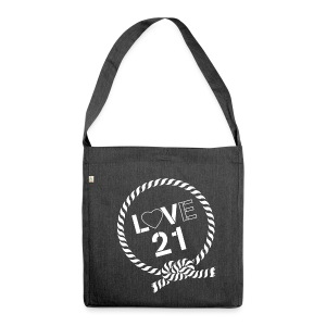 LV21 Shoulder Bag - LoVe21 Logo - Shoulder Bag made from recycled material