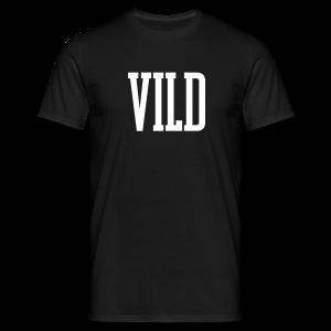 Vild Sort - Herre-T-shirt