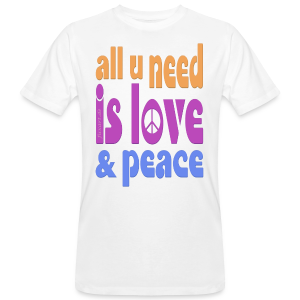 love and peace - Männer Bio-T-Shirt