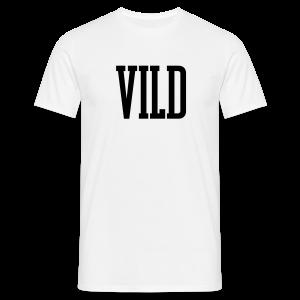 Vild Hvid - Herre-T-shirt