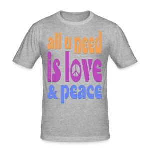 love and peace - Männer Slim Fit T-Shirt