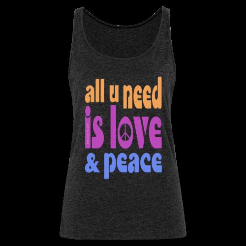 love and peace - Frauen Premium Tank Top