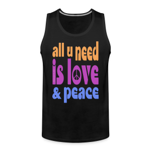 love and peace - Männer Premium Tank Top