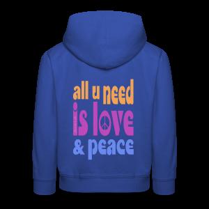 love and peace - Kinder Premium Hoodie