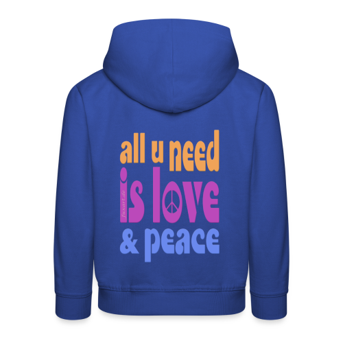 love and peace - Kinder Premium Hoodie