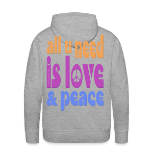 love and peace - Männer Premium Hoodie