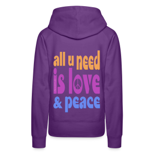 love and peace - Frauen Premium Hoodie