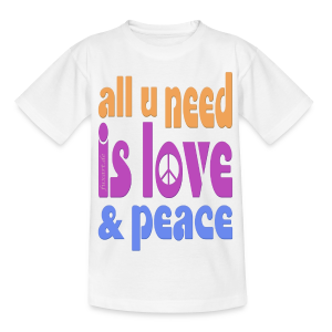 love and peace - Teenager T-Shirt