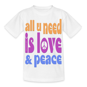 love and peace - Kinder T-Shirt
