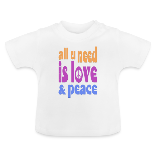 love and peace - Baby T-Shirt