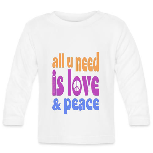 love and peace - Baby Langarmshirt
