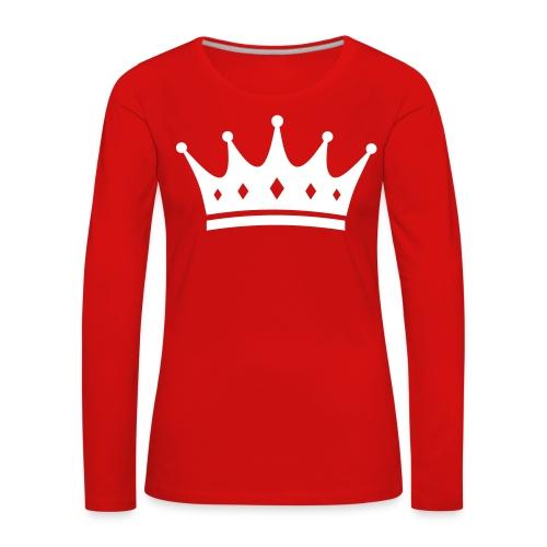 King's Woman Sweatshirt rot - Frauen Premium Langarmshirt
