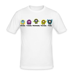 Wochentage Monster T-Shirts - Männer Slim Fit T-Shirt