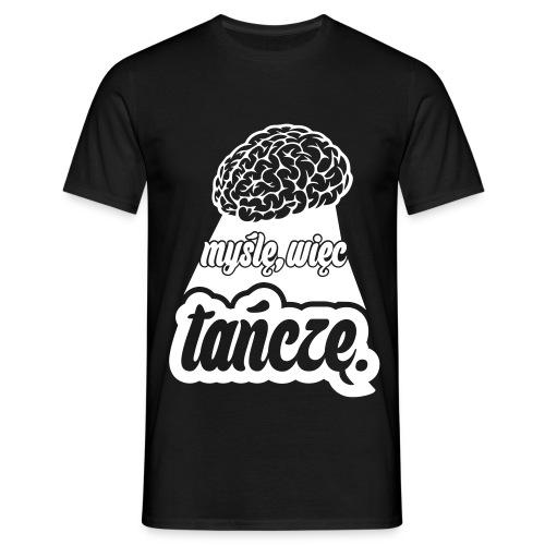 Myślę, więc tańczę. Biel - Koszulka męska