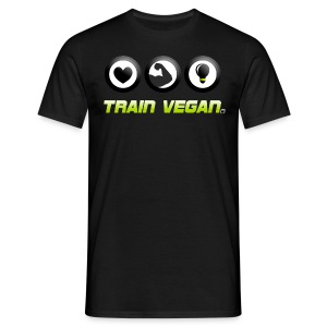Heart - Biceps - Brains | Train Vegan. - Männer T-Shirt