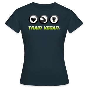 Heart - Biceps - Brains | Train Vegan. - Frauen T-Shirt
