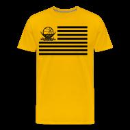 T-Shirts ~ Männer Premium T-Shirt ~ Flaggen-Shirt (gelb)