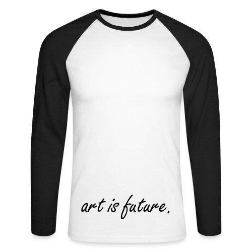art is future BLACK/WHITE-LONGSLEEVE-SHIRT BOYS - Männer Baseballshirt langarm
