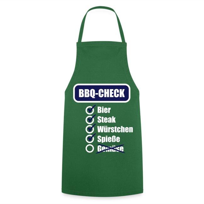 BBQ Check (Blau) - Grillschürze